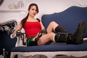 New Year's Lara Croft - sofa by TanyaCroft