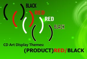 PRODUCT RED+BLACK CDArt Skins by Hanfer