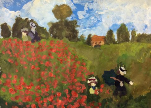 Claude Monet Poppies remake by Rosewater227