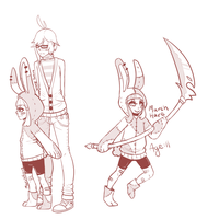 March Hare and Usagi Tomoe sketch by Late-Night-Cannibals