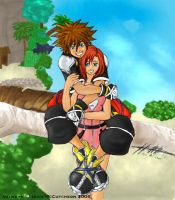 Sora and Kairi: Embrace by Unknowncreation