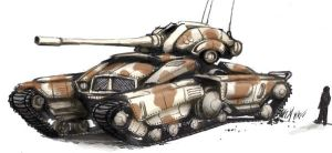 Tank concept colored by TickTockMan92