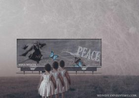 Peace Billboard by Tina White by wdnest