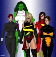 Female Avengers by hotrod5