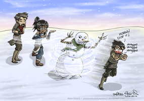The Legend of Korra: Snowbending by OdieFarber