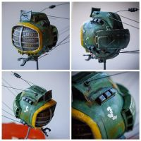 Fallout the Lonesome Road  ed-e eye bot miniature by Catarios