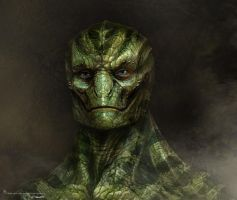 Amazing Spiderman Lizard design2 by JSMarantz