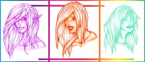 Faces: only color version by haborym02