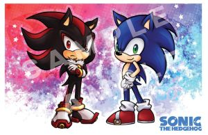 Sonic y Shadow Chibi Poster by Vay-demona
