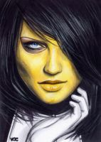 Madame Masque Sketch Card 2 by veripwolf