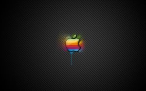 Apple Spray Wallpaper - 27' by jusso11