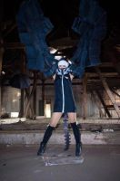 Strength 2 - black rock shooter by psycomeh