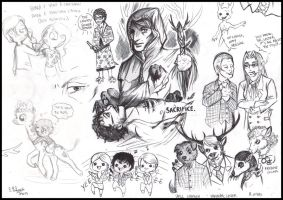 Hannibal sketches 2 by FuriarossaAndMimma