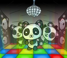 Disco Pandas by zurtech
