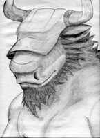 anthro-head-007 - Saturday 12th January 2013 by Summitwulf