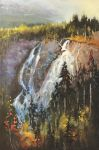 Grassi Lakes Waterfall View by artistwilder