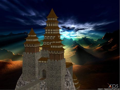 XNALARA XPS Model Release!!! Chinese Castle by Merytaten-tasherit