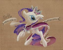 Commission: Rarity as Princess Platinum by getchanoodlewet