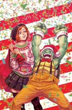 TMNT#Christmas cover by Santolouco