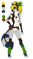 Steampunk anthro fox design by SodaButtles