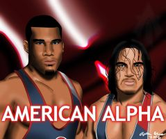 NXT Tag Team American Alpha (Jordan And Gable) by AllenThomasArtist