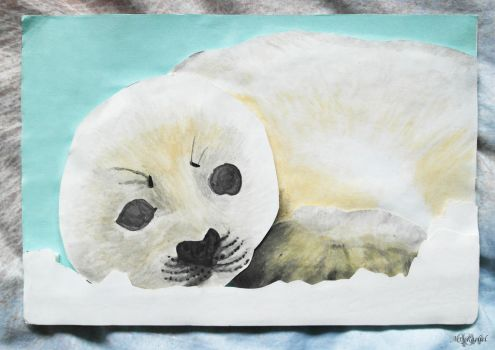 Baby Seal Papercraft by RacsterArt
