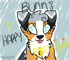 Happy Birthday Bunni! by puppybulldogfaceART