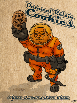 Space Dwarven Oatmeal Raisin Cookies by Shabazik