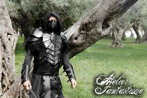 Nightingale leather black armor by AtelierFantastique