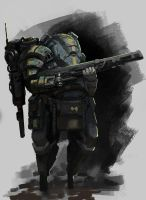 Heavy armor by onestepart