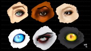 WEEKLY ART CHALLENGE #13 Eyes! (+video) by just-caro