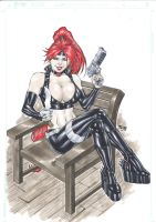 Red Monika by Fred Benes by aercastro82