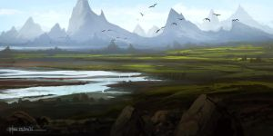 Landscape Study by HazPainting