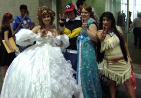 AX09-Ash and the Princesses by moonymonster