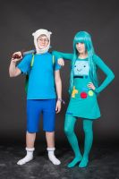 Finn and BMO Cosplay by problematiiques