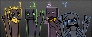 .:Neon Numbers:. by BlueBead