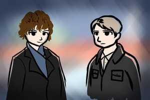 Holmes and Watson by mchectr