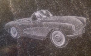 57 Corvette Convertible Etch by ckatt01