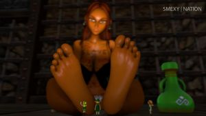 Gerudo Foot Worship by Smexy-Nation
