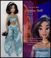 ooak repainted princess jasmine doll. by verirrtesIrrlicht