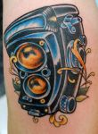 Old School Camera Tattoo by sethdavidson