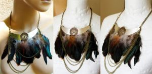 Boho Ethno necklace by Pinkabsinthe