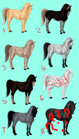 Horse Adoptables ( Dusterden Breed ) by Moved-Account2