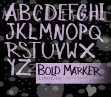 .:BOLD MARKER letters:. by porcelainBRUSHES