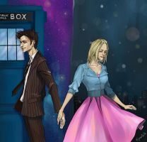 Doctor and Rose Tyler by Rukinda
