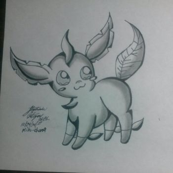 Leafeon doodle by Miku-chan9