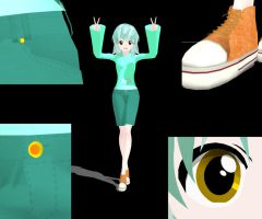Lyra Heartstrings MMD Model by GirlAnimePrincess