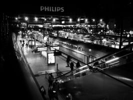 Central Railway Station Hamburg Hauptbahnhof by MichiLauke