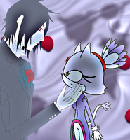 Sebastian and Blaze the cat by Sweetgirl333