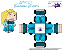 Disney Princess Aurora Cubeecraft Blue Dress PT 2 by SKGaleana
